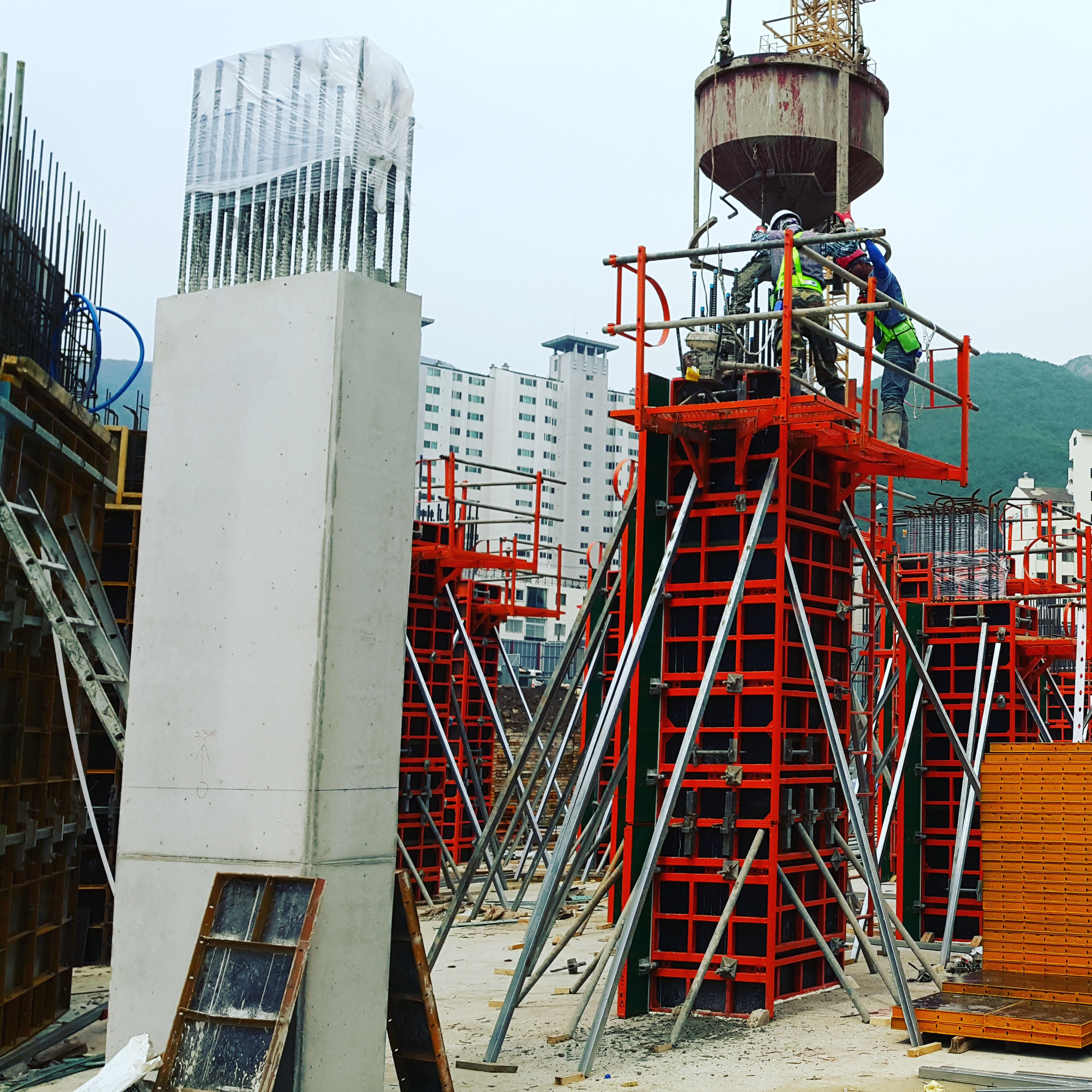 steel formwork system construction